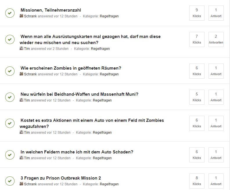 Neue Fragen Sektion
