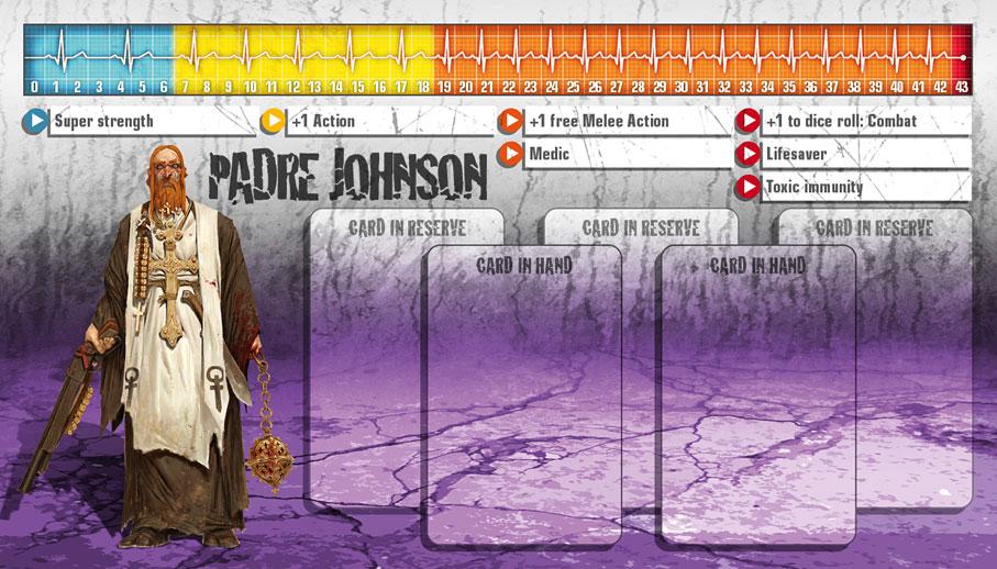 Padre Johnson als Überlebender