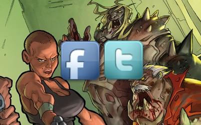 Zombicide.de auf Facebook und Twitter