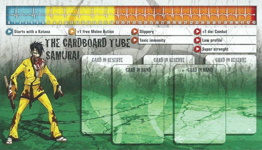 Cardboard Tube Samurai als Überzombie